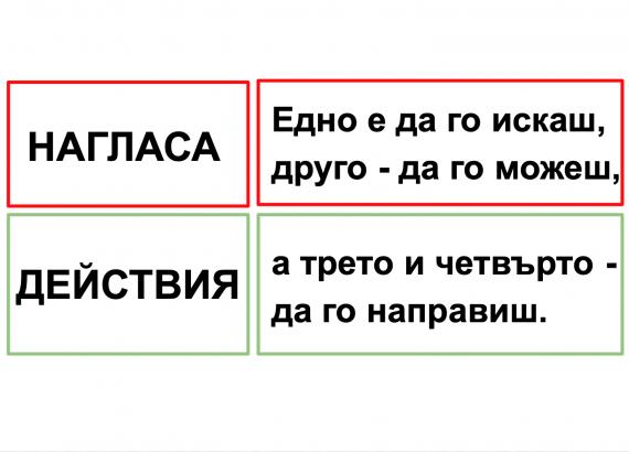 Едно е да го искаш, друго - да го можеш, а трето и четвърто - да го направиш - Malchev net
